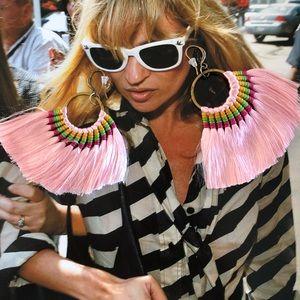 Jewelry - Boutique | Light Pink Fan Earrings
